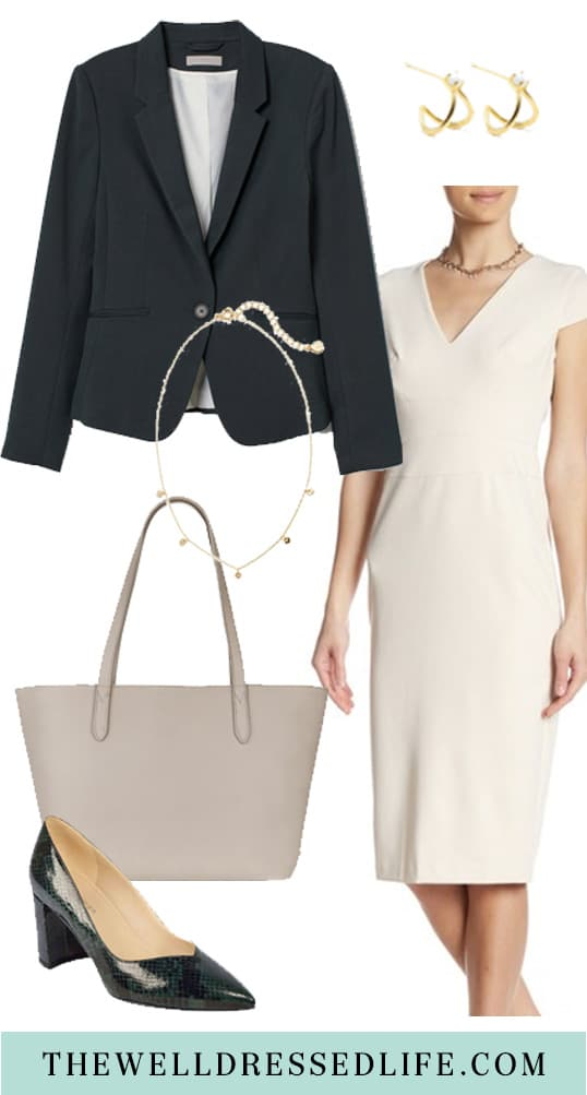A Light Colored Sheath for the Office