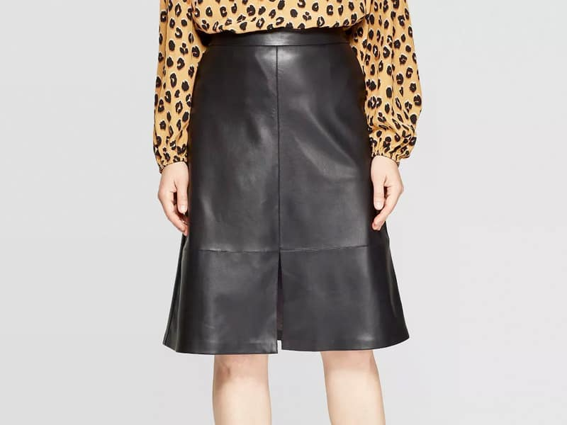 Faux Leather Skirt from Target