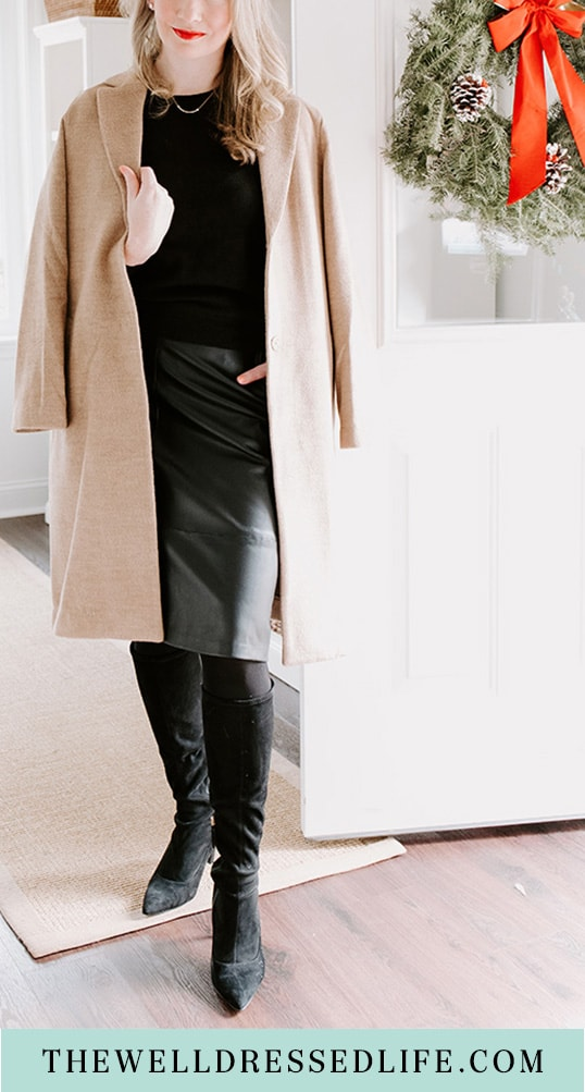 How to Wear a Faux Leather Skirt to Work 3 Ways