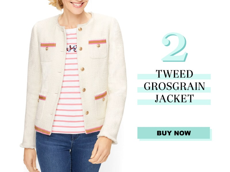 Talbots Tweed Grosgrain Jacket