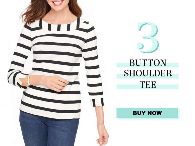 Talbots Button Shoulder Tee