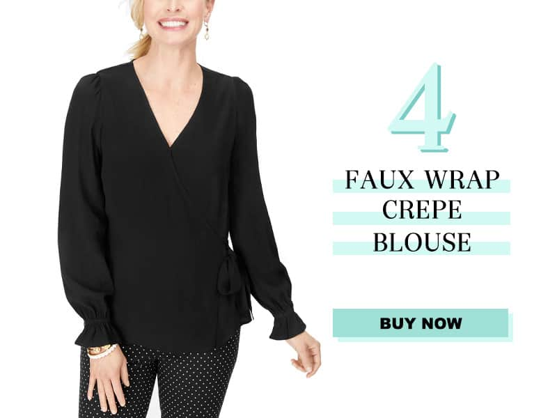 Talbots Faux Wrap Crepe Dress