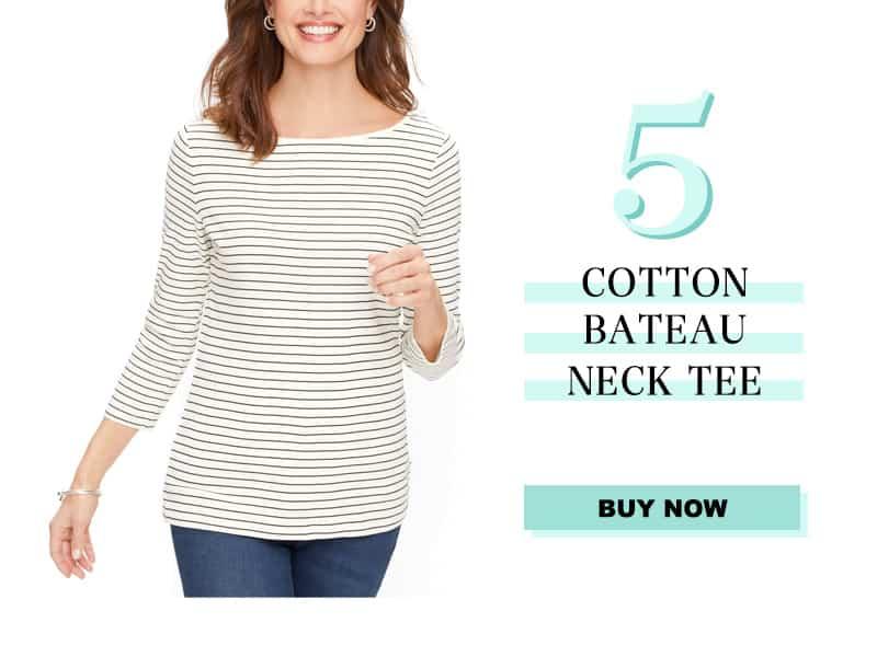 Talbots Cotton Bateau Tee