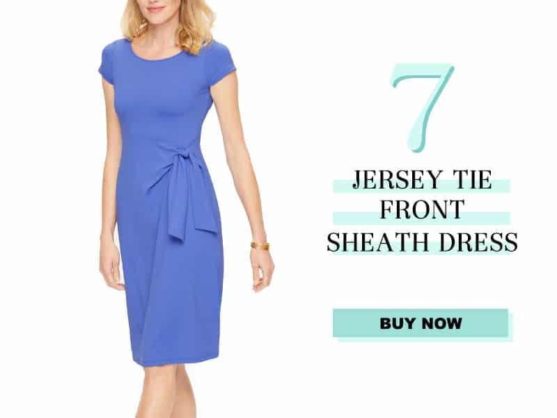 Talbots Jersey Tie Front Dress
