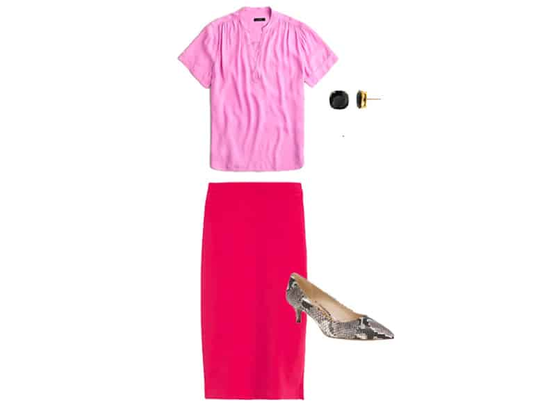 How to Wear a Pink Skirt Three Ways