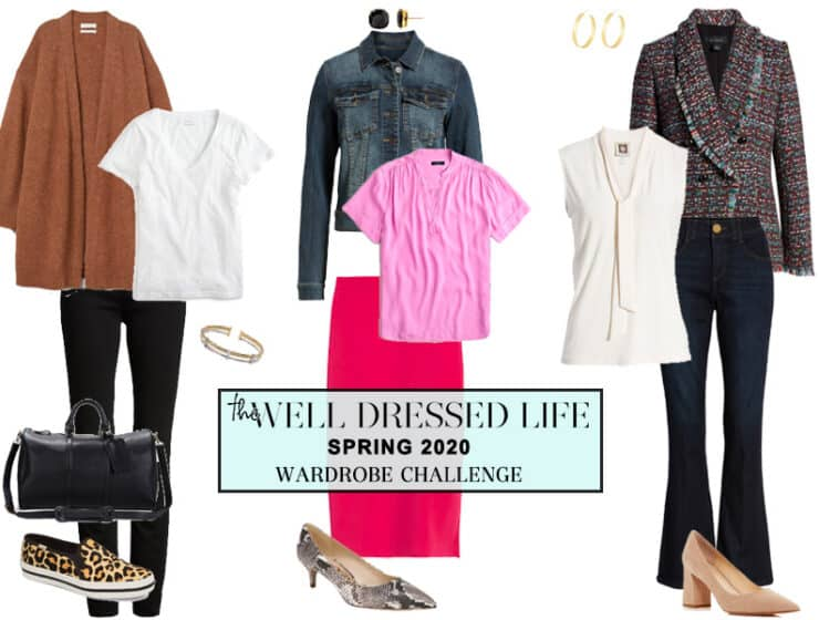 The Well Dressed Life's Spring 2020 Wardrobe Challenge
