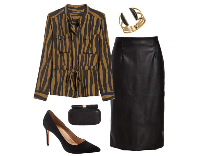 Zebra Print Blouse Two Ways for Work
