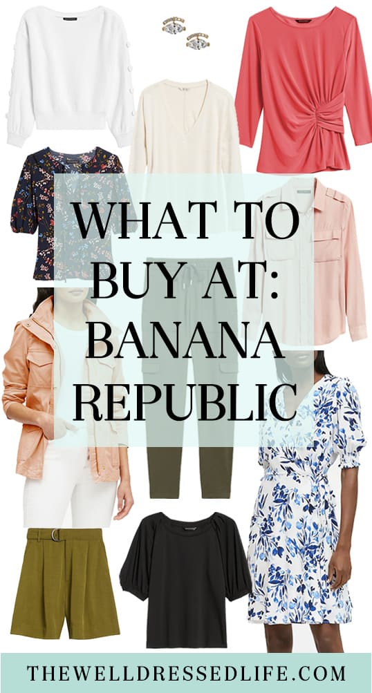What to Buy at: Banana Republic