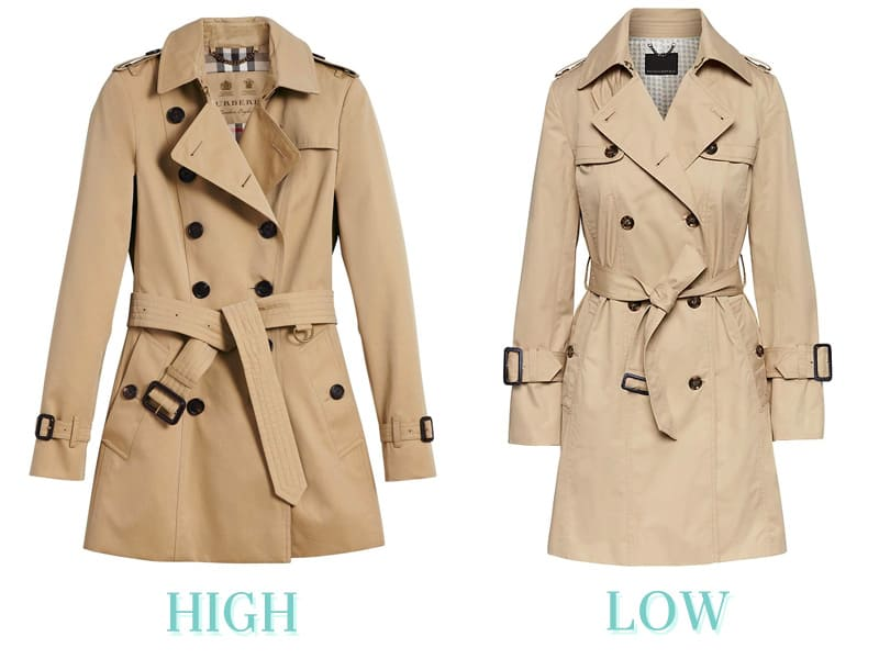 High Low Trench Coats