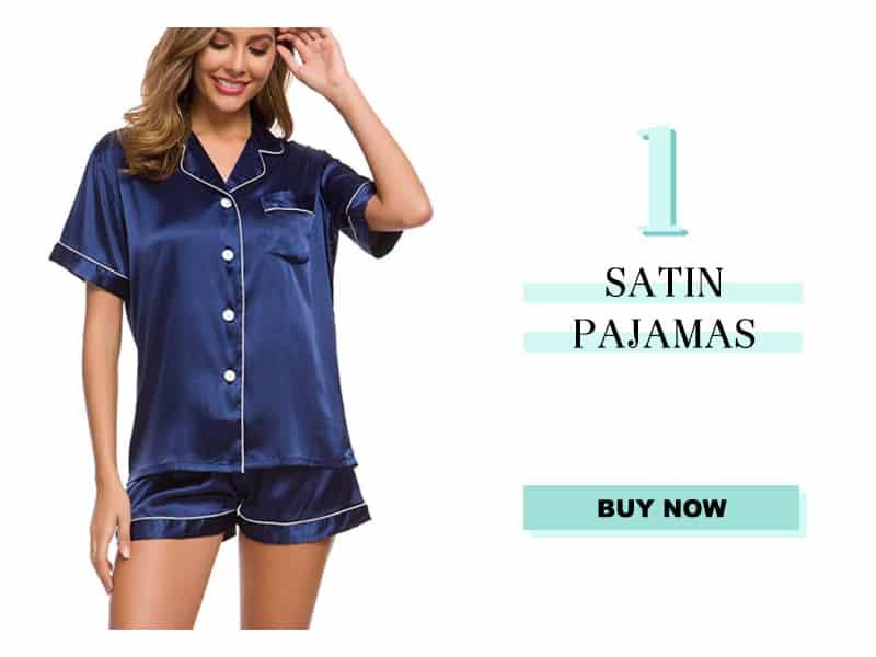 navy blue satin pajamas