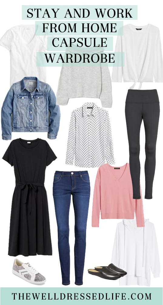 Stay and Work from Home Capsule Wardrobe