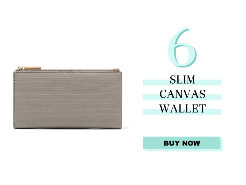 Dagne Dover Slim Canvas Wallet