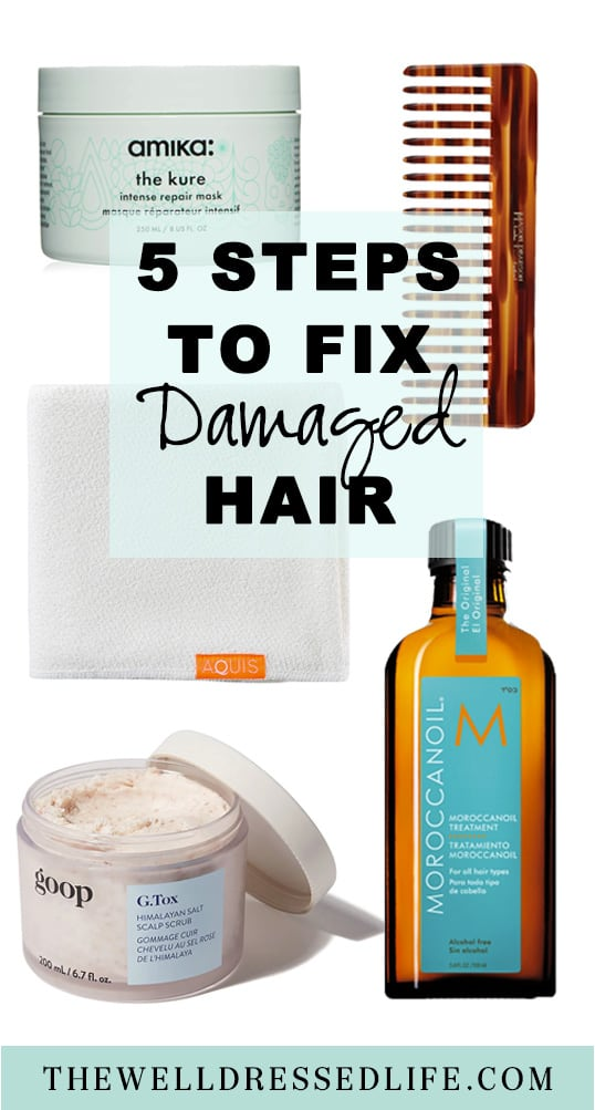 How to Fix Damaged Hair in 5 Easy Steps