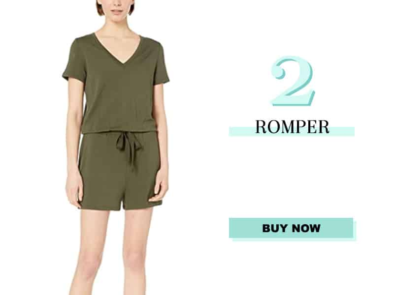Olive green romper