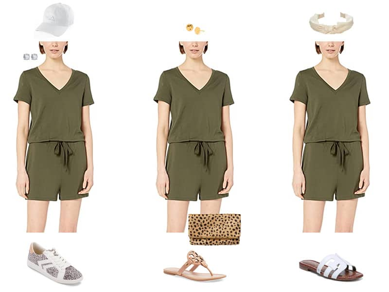 How to wear a Romper 3 Ways