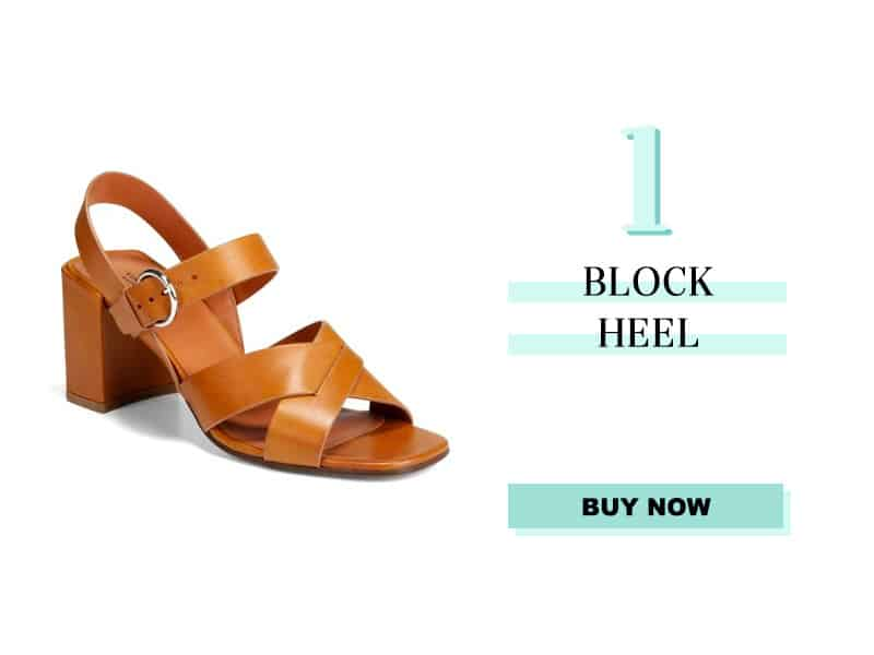 Via Spiga Opal Leather Block Heel Sandal