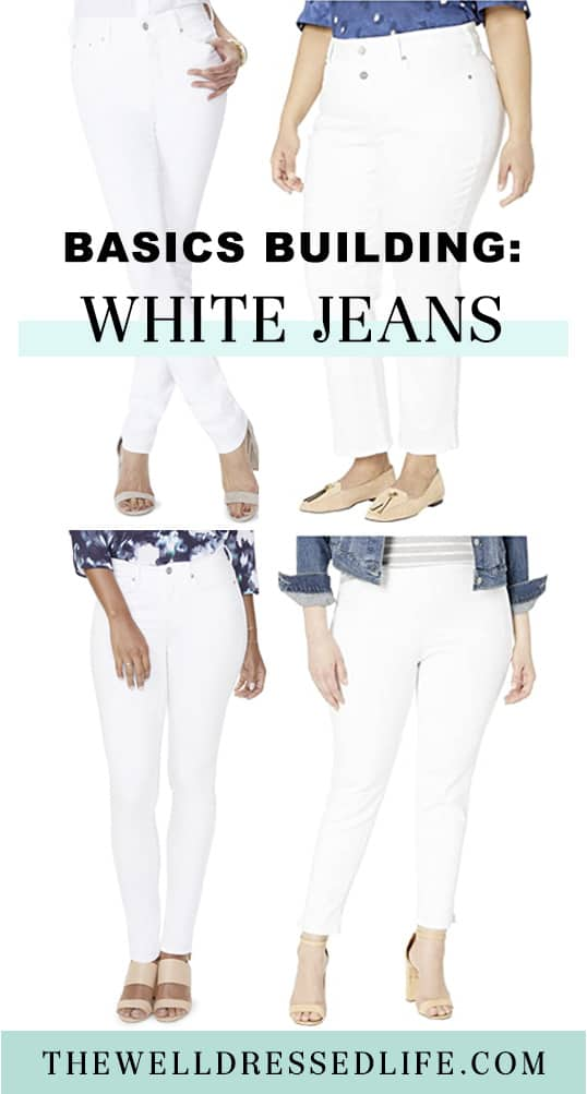 Basics Building: White Jeans