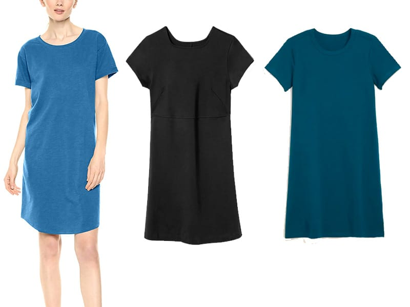 three t-shirt dresses