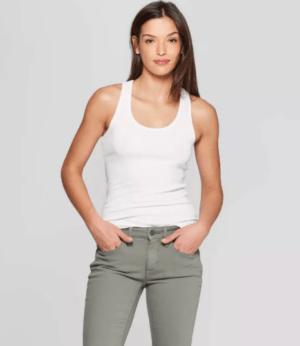Women's Slim Fit Rib Racerback Tank Top – Universal Thread™