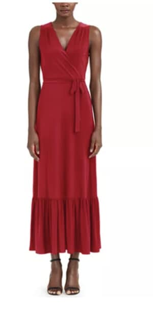INC International Concepts I.N.C. Plus Size Wrap Style Maxi Dress, Created for Macy's