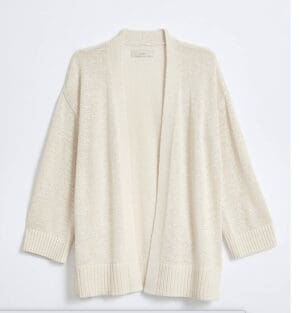 LOFT Rib Trim Open Cardigan