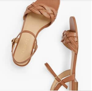 Talbots Violet Braided Flat Sandals