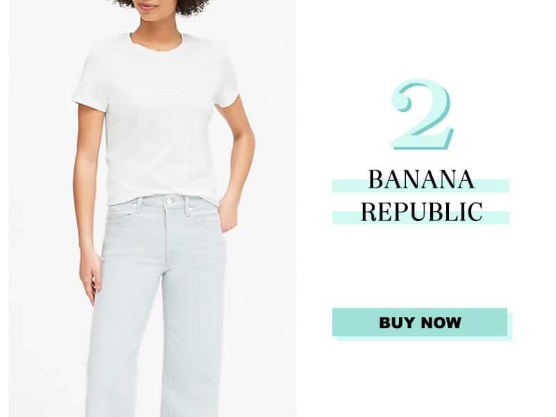Banana Republic White Tee
