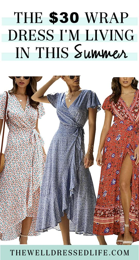 The $30 Wrap Dress I\'m Living In This Summer