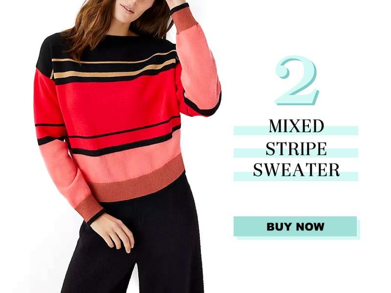 Ann Taylor Mixed Stripe Sweater-2
