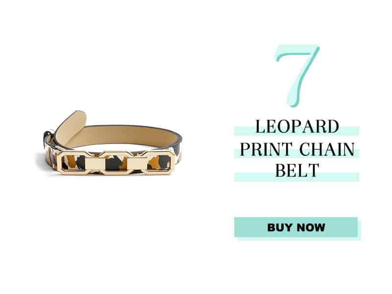 Ann Taylor Leopard Chain Belt