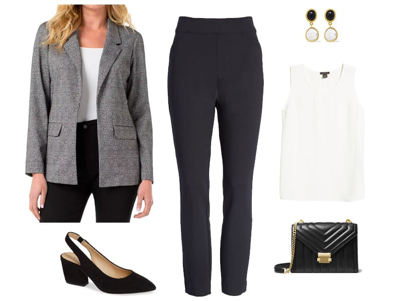 Well Dressed - How to Wear Spanx Perfect Black Skinny Pants to Work