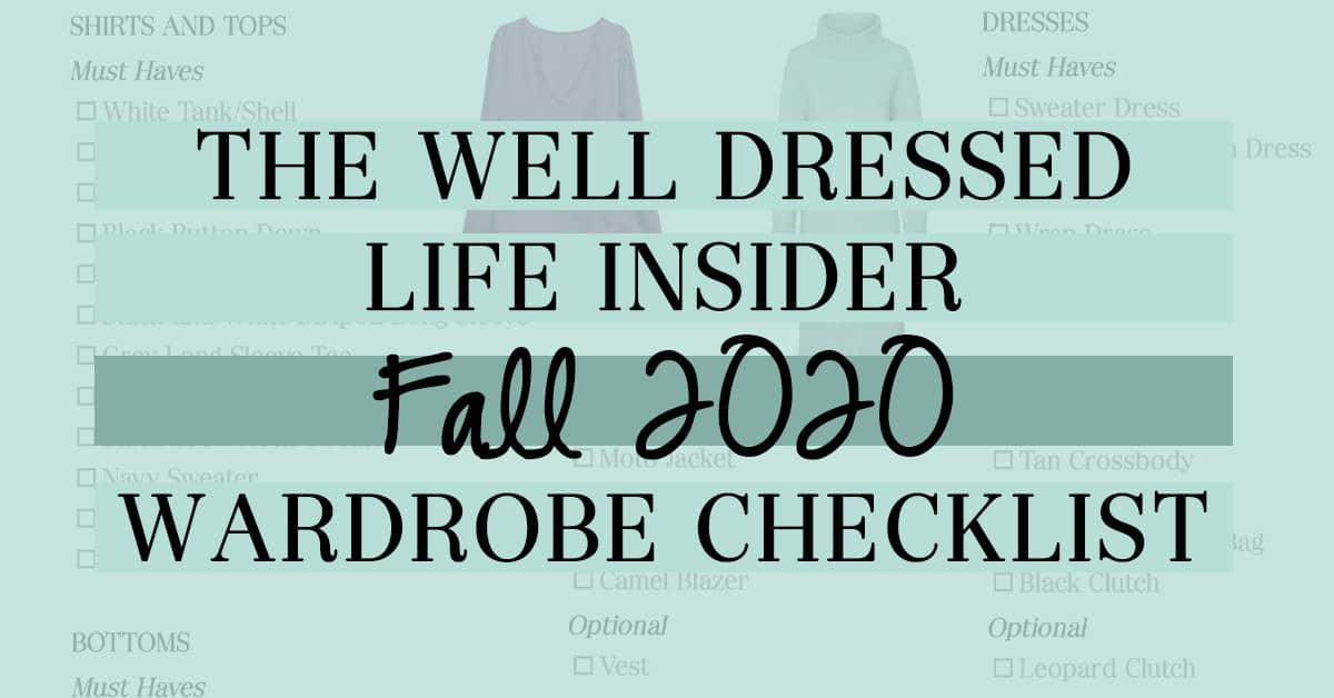 Fall 2020 Checklist
