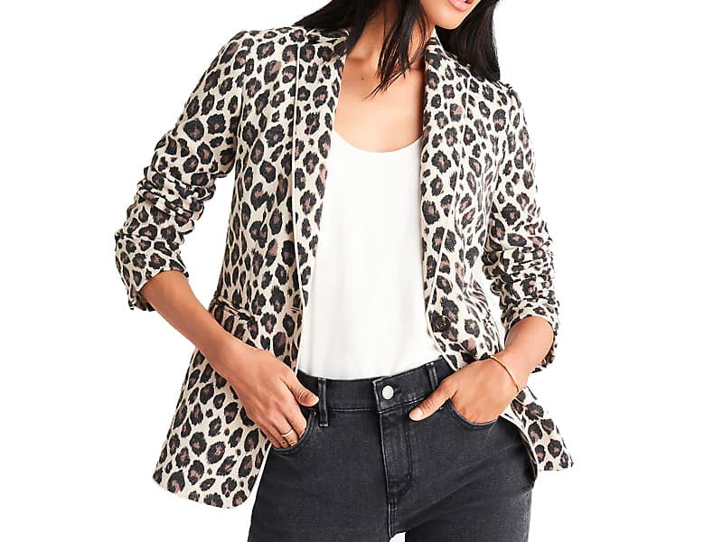 Ann Taylor The Hutton Blazer In Leopard Print