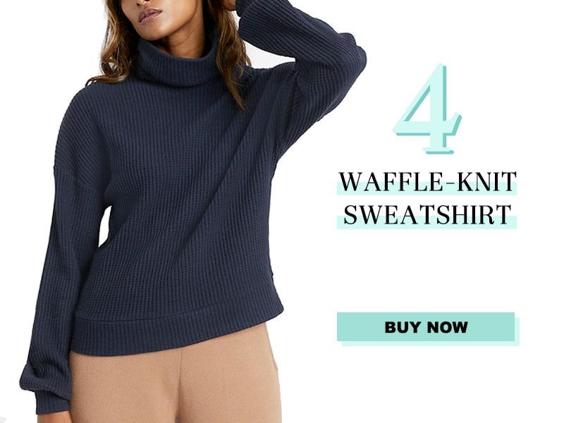 Banana Republic Waffle Knit Sweatshirt
