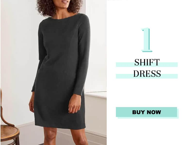 Boden Black Shift Dress