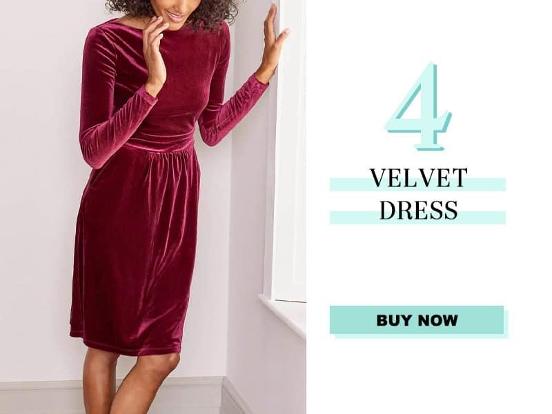 Boden Velvet Dress
