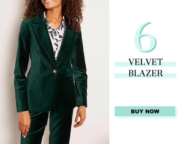 Boden Velvet Blazer