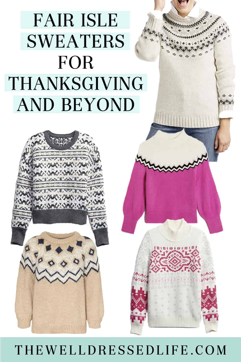 5 Fair Isle Sweaters for Thanksgiving and Beyond