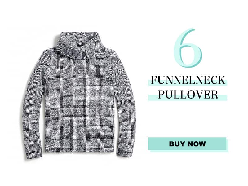 J.Crew Factory Pullover Funnelneck Pullover