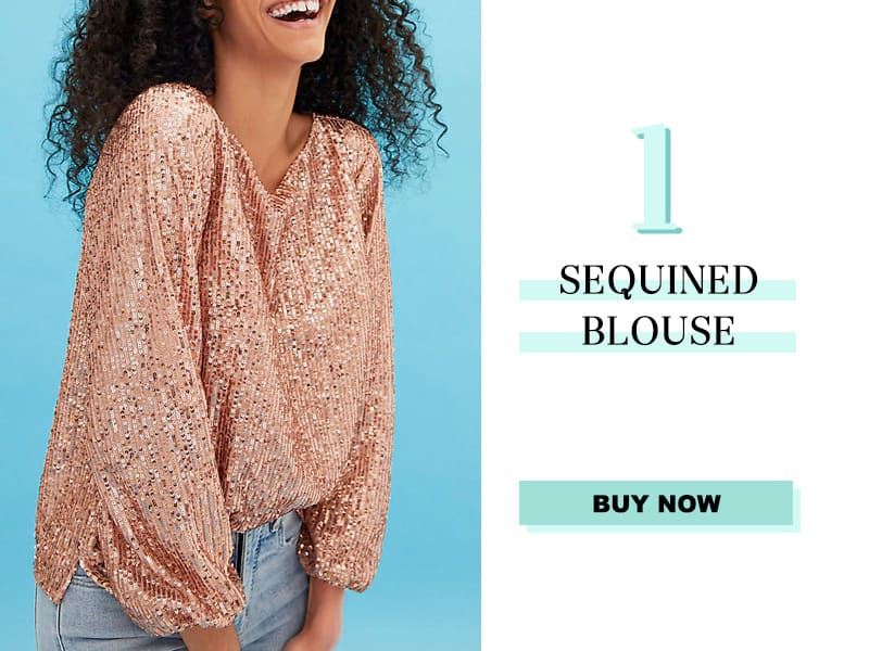 LOFT Sequined Blouse