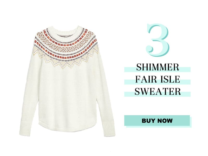 LOFT Shimmer sweater