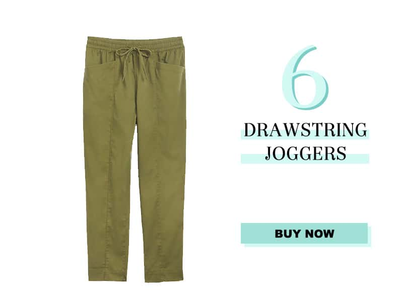 LOFT green drawstring joggers