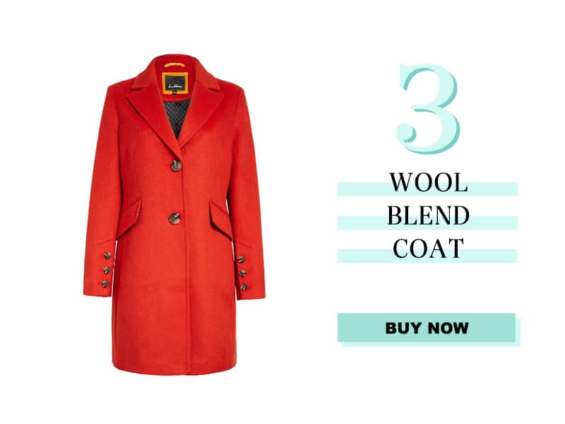 Orange Wool Blend Coat