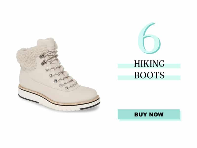 Cole Haan White Hiking Boot