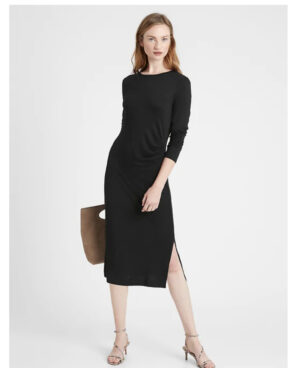 Banana Republic Side Ruched Luxespun Dress