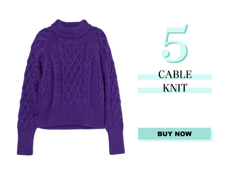 H&M purple cable knit sweater