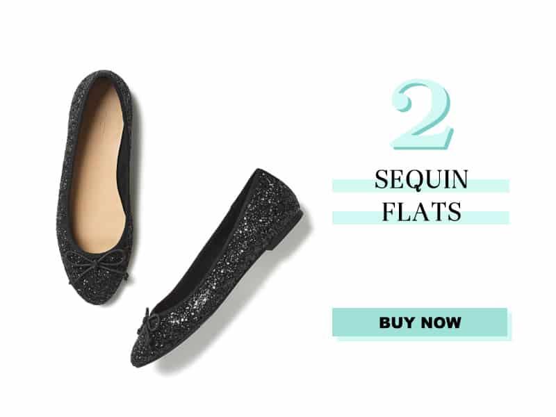 Sequin Flats from LOFT