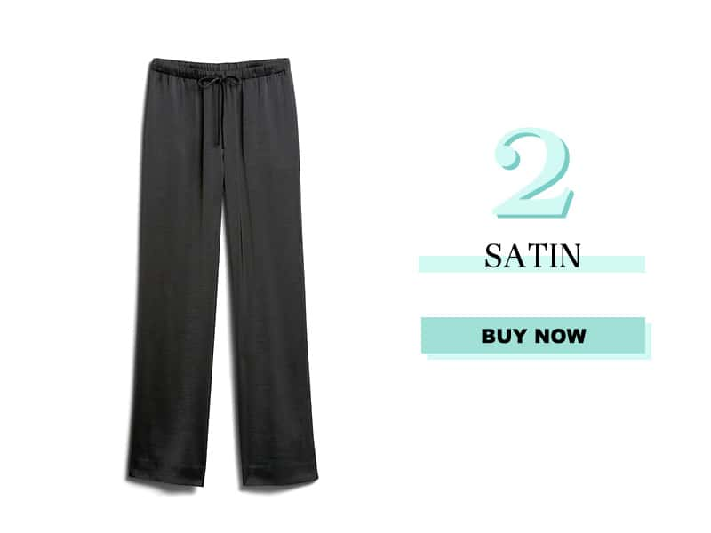 Black Satin Pants from Banana Republic