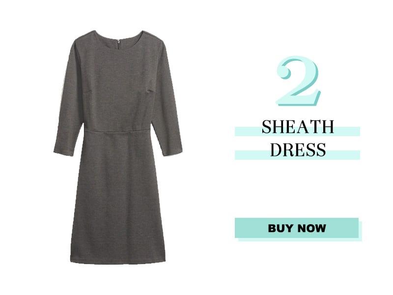 Old Navy Gray Sheath Dress