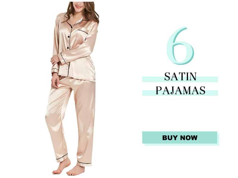 Satin pajamas in champagne